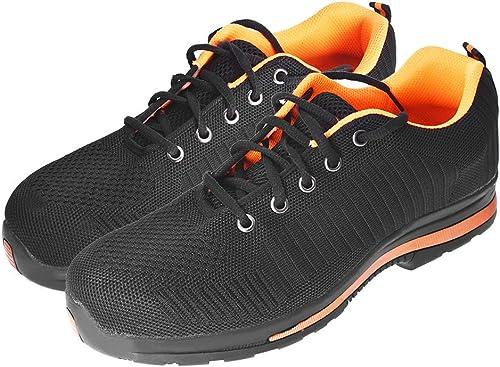 wholesale Safety Shoes Men's Steel Toe Steel Sole Lightweight Comfortable Industrial Construction Sneakers Slip Resistant Shoes for Outdoor Work (Mesh wholesale US10 popular =UK9.5 =EU44 =270mm) sale