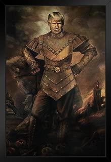 Donald The Carpathian Funny Black Wood Framed Art Poster 14x20