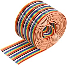 uxcell IDC Rainbow Wire Flat Ribbon Cable 34P 1.27mm Pitch 3meter/9.8ft Length