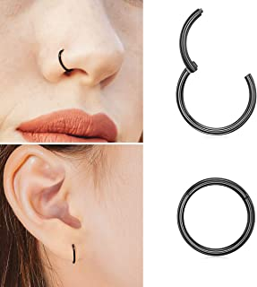 Trinket Nostril Hoop Bead Ear Piercing Stud Trendy Clip Turquoises Nose Ring KV