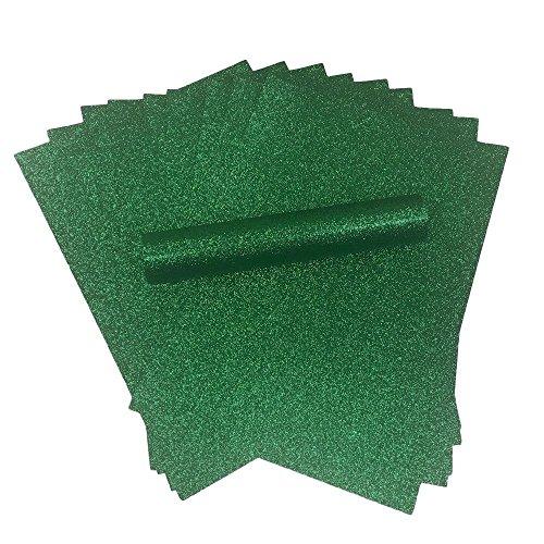 A4 Glitter Papier Groen Sparkly Soft Touch Niet Schuur Dikke 150gsm Kerst Papier Pack van 10 Vellen