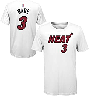 Outerstuff Dwyane Wade Miami Heat #3 Youth Icon Player Name & Number T-Shirt White
