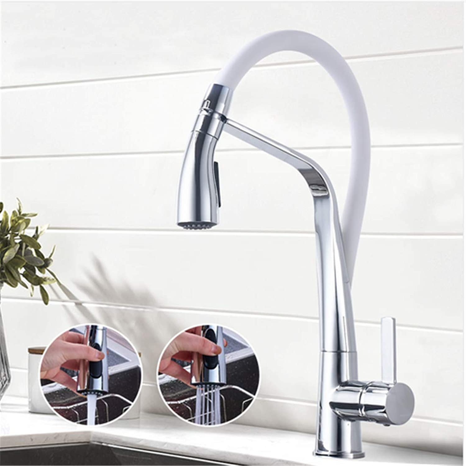 Retro Hot and Cold Faucet Retrochrome Black Kitchen Faucet Deck Mounted Hot Cold Water Mixer