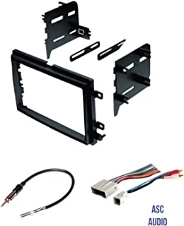 ASC Audio Car Stereo Radio Install Dash Kit, Wire Harness, and Antenna Adapter to Install a Double Din Radio for some Ford Lincoln Mercury Vehicles - Compatible Vehicles Listed Below,