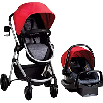 Pivot Modular Travel System with Safemax Rear-Facing Infant Car Seat, Salsa