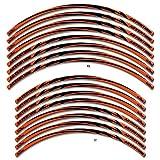 Adesivi 3d Per Cerchi 17 E 19' Compatibili Con Moto Ktm - Arancione