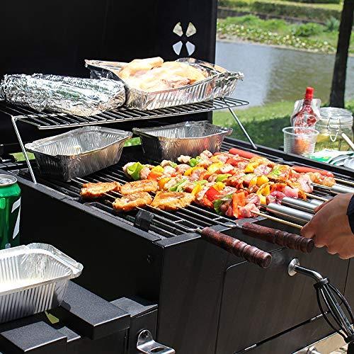 61M09Dczk+L - Luorizb Amerikanische Villa Hof Grill Hause verstellbare Holzkohlegrill Herd Outdoor-Bereich Spieße BBQ5 Menschen oder mehr