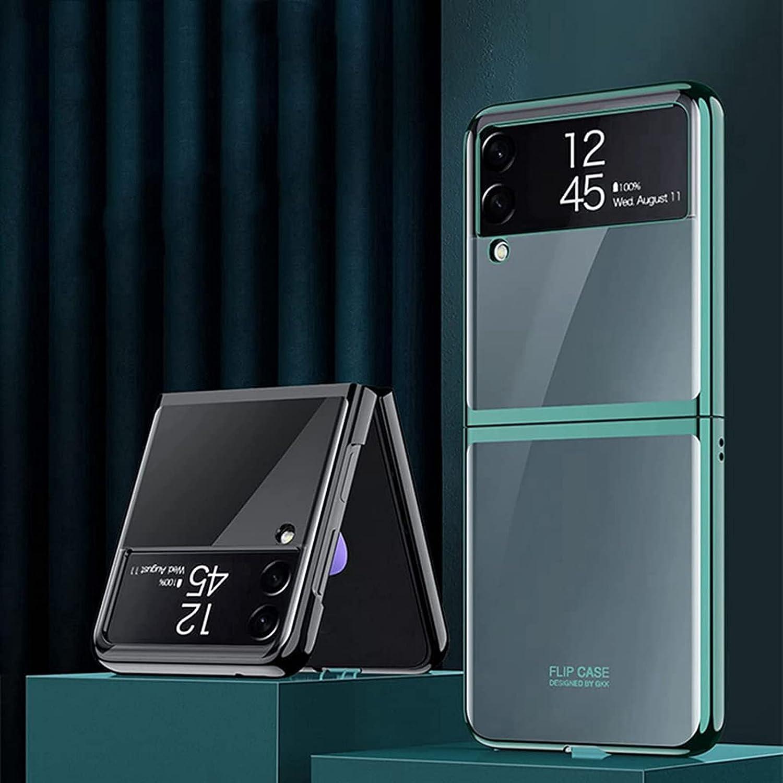2021 Slim Case for Samsung Galaxy Z Flip 3, for Samsung Galaxy z flip 3 case, Premium Thin Transparent Hard PC Protective Phone Cover for Z Flip3 5G. (Transparent)