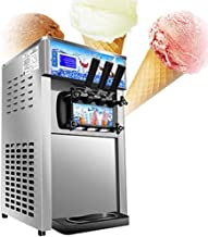 Commercial Frozen Maker Ice Cream Cones & Maker Frozen Yogurt Machine 3 Flavor Soft Ice Cream 18L/H, Ice Cream Shop, Dessert Sales, Beverage Shop, Restaurant