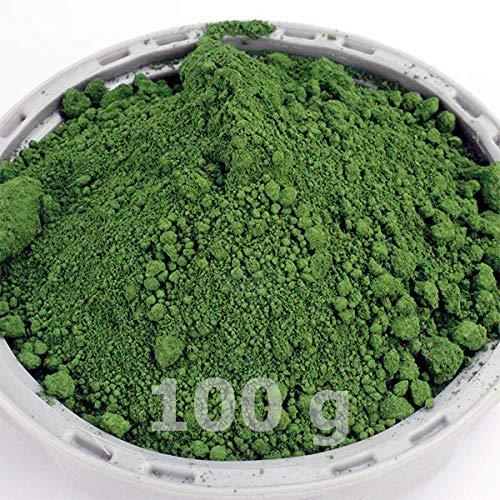 @tec Premium Pigmentpulver, Eisenoxid, Oxidfarbe - 100 g (39,90 Euro/kg) Farbpigmente/Trockenfarbe für Beton, Wand-Farbe: grün/green