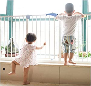 Adjustable Super Wide Normally Opens Device Baby Pet Isolation Fence With Double Lock Pressure Mount Safety Gates For Indoor Bottom Doorways Barrier Color High76 width Size 85-94cm