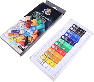 GIMEVAR 12 Colors 12ML Tube Acrylic Paint set Art Painting Drawing Tools For Kids DIY Water-resistant