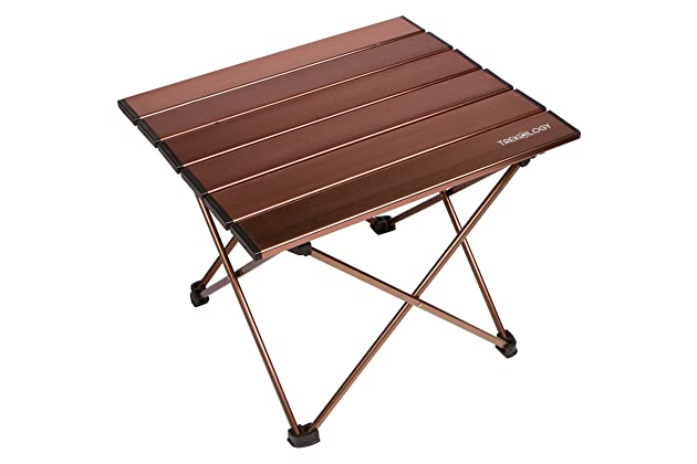 Trekology Portable Camping Side Tables With Aluminum Table Top: Hard Topped Folding  Table In A Bag For Picnic, Camp, Beach, Boat, Useful For Dining ...
