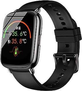 2021最新型 スマートウォッチ フルタッチスクリーン アプリでGPS搭載 1.69インチの大画面 天気予報 多運動モード smart watch 着信/アプリ通知 画面明るさ調整 ip67防水 腕時計 男女兼用 誕生日 iPhone/Andr...