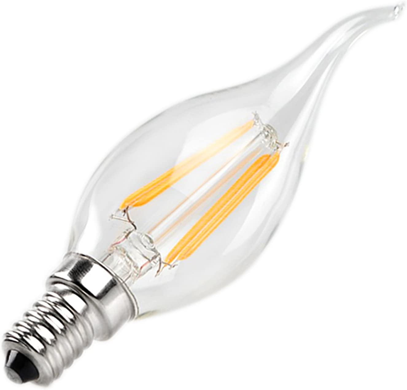 Light Bulbs E12 4W Warm Limited time for free shipping White Bulb Cool Glass Shel LED Max 65% OFF COB