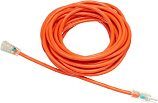 AmazonBasics 12/3 SJTW Heavy-Duty Lighted Extension Cord | Orange, 50-Foot