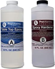 Crystal Clear Bar Table Top Epoxy Resin Coating for Wood Tabletop - 2 Quart Kit…