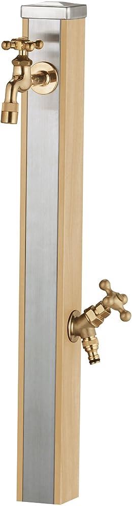 かすかなに勝るアークユニソン(UNISON) スプレスタンド70  ウッドベージュ  蛇口2個セット  ゴールド
