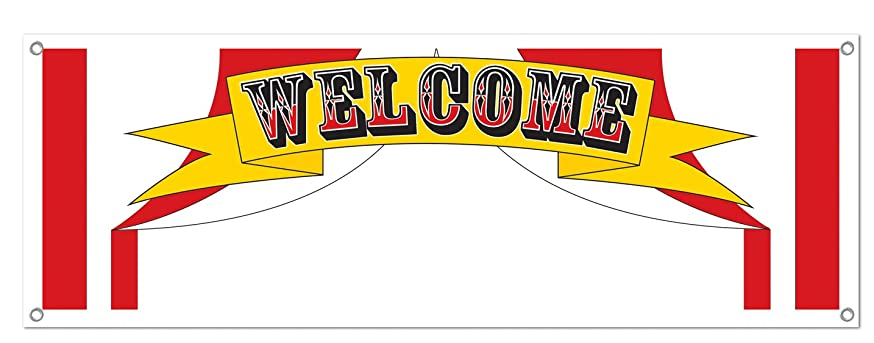Welcome Sign Banner Party Accessory (1 count) (1/Pkg)