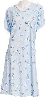 Pflegehemd KURZARM S/M in hochwertiger Jerseyqualität mit offenem Rückenteil - für die prof.Pflege blau