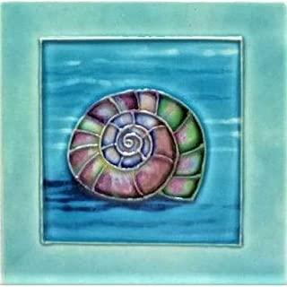 Purple Sea Snail Shell Art Tile 4