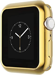 Ayigo Compatible with Apple Watch Case 40mm 44mm, Soft Slim TPU Protective Case Anti-Scratch Bumper Cover Compatible iWatch Series 4 (Gold, 44mm)