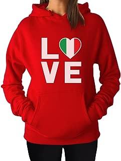 Tstars - I Love Italy - Italian Patriot Flag of Italy Gift Women Hoodie