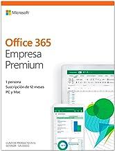 Microsoft Office 365 Business Premium -  Software para PC y Mac, Hasta 5 PCs / MAC, 5 Teléfonos, 5 Tablets, Suscripción 1 Año