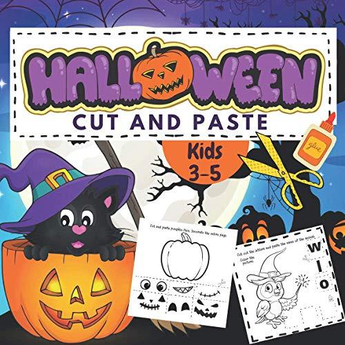 [画像:Halloween Cut & Paste Kids 3-5: Early Learning Activity Book, Number And Letter Recognition, Puzzles, Matching Games With Holiday Characters Such As Pumpkins, Witches, Ghosts, And Much More For Fun And Learning Scissors Skills.]