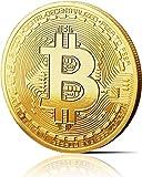innoGadgets Physische Bitcoin Medaille mit 24-Karat Echt-Gold überzogen. Wahres Sammlerstück mit...