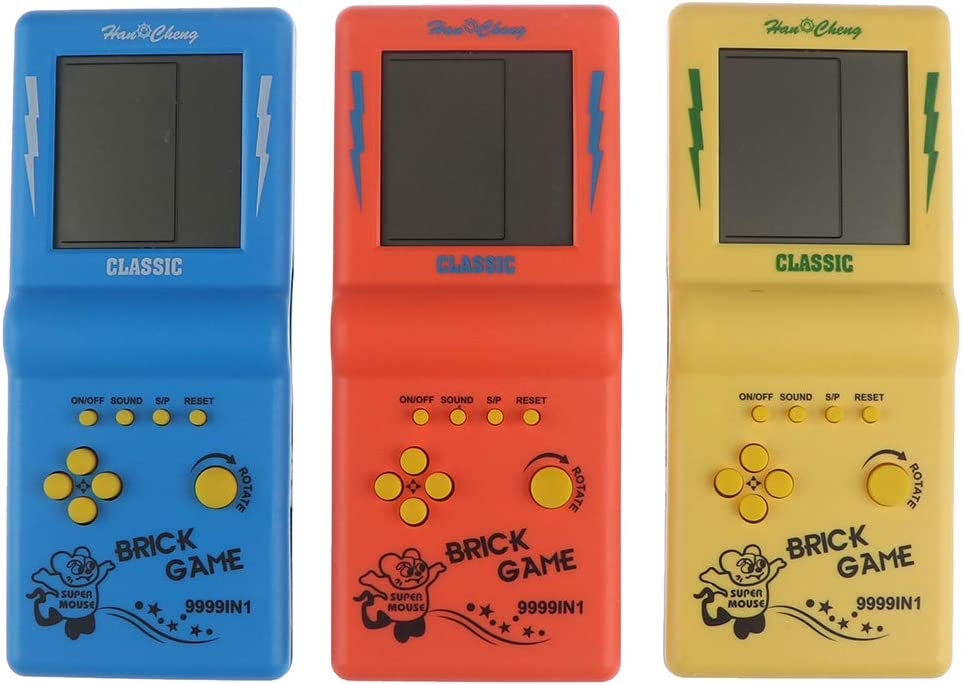 sold out JIDAFANG-US New color 3 Pcs Brick Game Screen Large Handheld Games Console