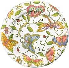 Entertaining with Caspari Parvenu's Garden Salad/Dessert Plates, Multicolor, 8-Pack