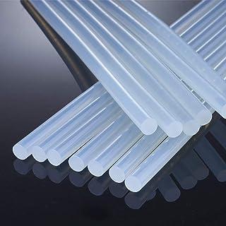 Hot Glue Sticks,100PCS, 0.28 x 7.87in, Transparent Hot Melt Glue Gun Sticks EVA Glue for Art Craft, Adhesive Repair Bondin...
