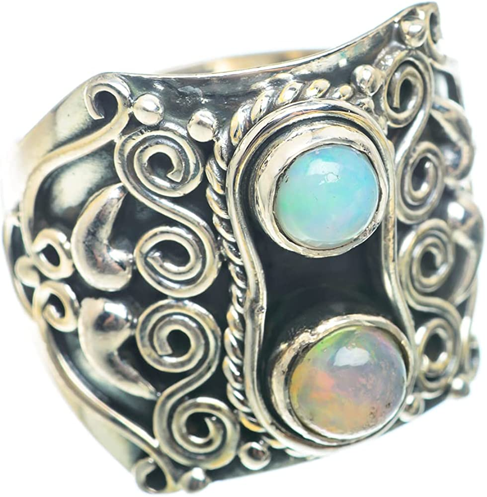 Max 64% OFF Ana Silver Co Natural Ethiopian Opal S Size Ring Gifts 925 Sterling 7