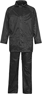 RIDDLED WITH STYLE High Visibility Reflective Tape Rainsuit Mens Hi Viz Security Work Complete Suit