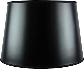 13x16x11 Black Parchment Gold-Lined Floor Lampshade with Brass Spider fitter By Home Concept - Perfect for table and Desk lamps - Large, Black