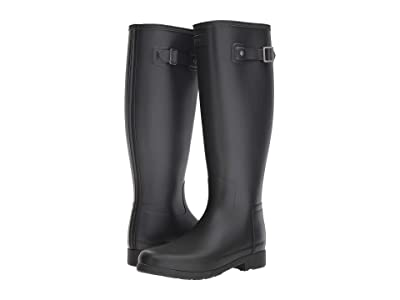 Hunter Original Refined Wide Calf Rain Boot Matte (Black) Women