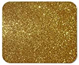High Quality Gaming Mouse Pad Custom, Light Gold Glitter Background,Personalized Design Non-Slip Rubber Mousepad