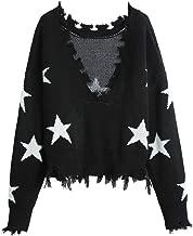 Best shredded star sweater Reviews