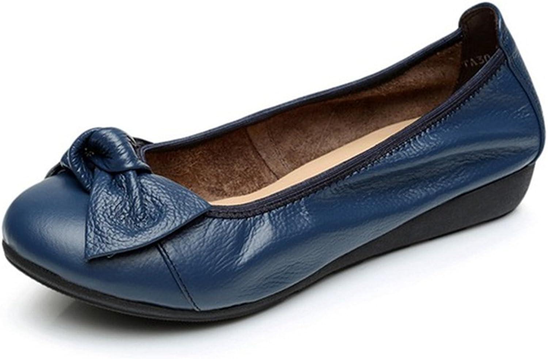 Women Flats shoes, Fashion Bowknot Slip on Round Toe Soft shoes