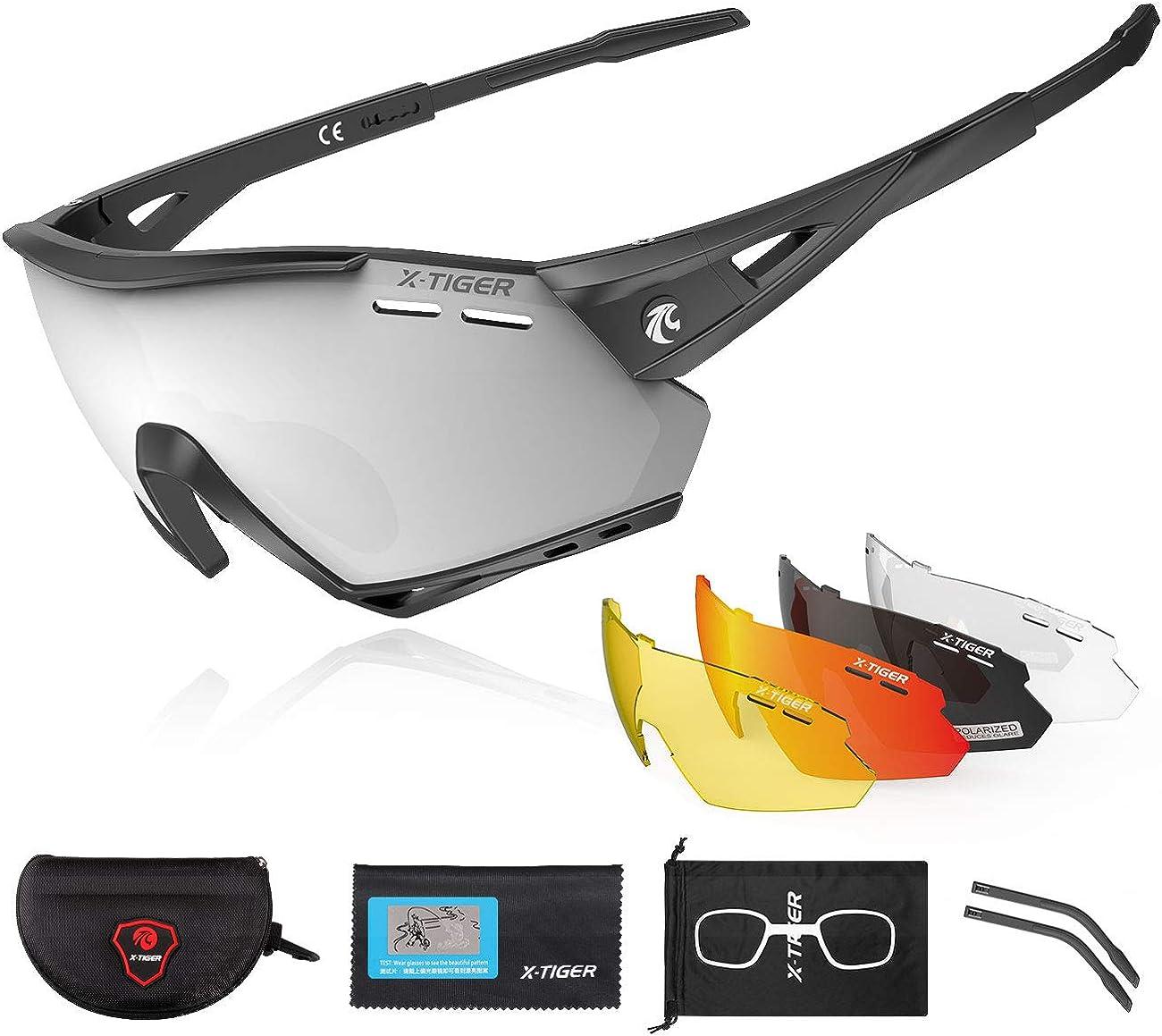 X-TIGER Polarized Sports Cycling Biking New arrival Interc Japan Maker New with 5 Sunglasses