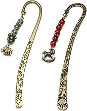 /4 3pcs Set confezione da 1/ Jovivi segnalibri in metallo per donne vintage bronzo con 7/chakra Tree of Life filo avvolto ciondolo di cristallo in rilievo libro Marker per Grils da uomo