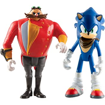 Amazon Com Sonic The Hedgehog T22502a4soniceggman 3 Inch Sonic Boom And Eggman Articulated Figures Pack Of 2 Toys Games