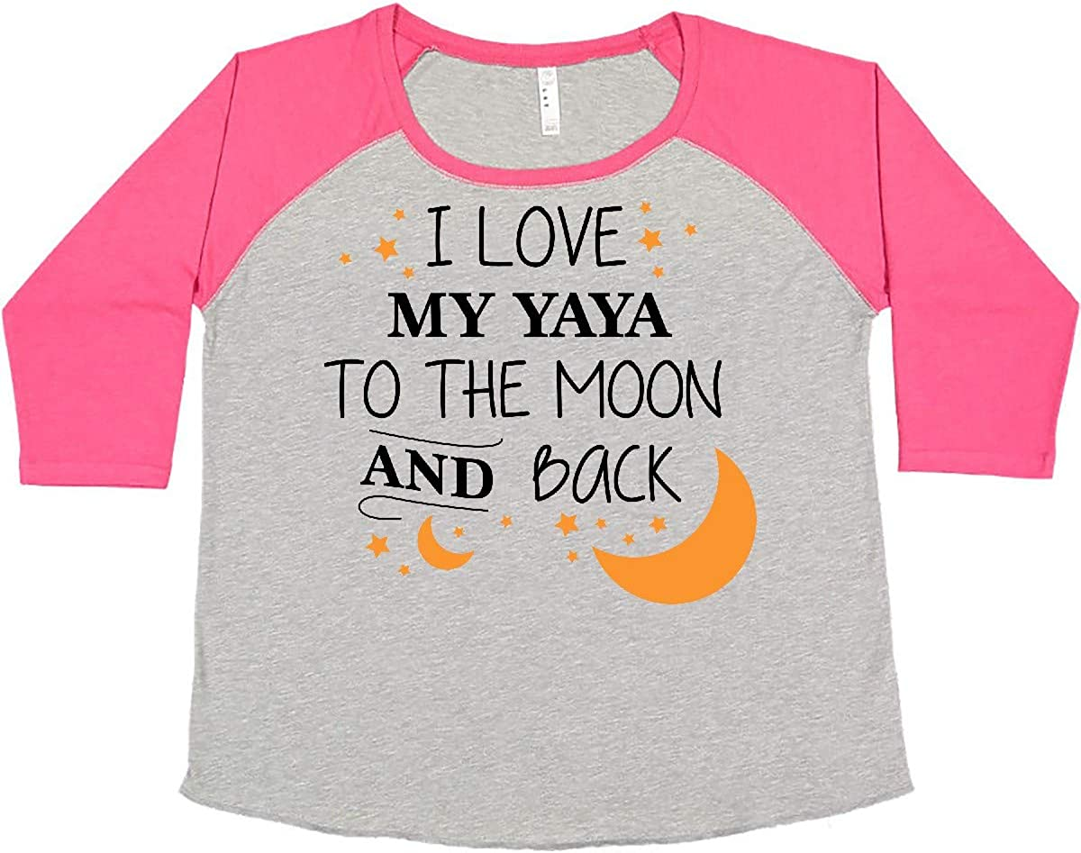 inktastic I Love My Yaya to The Back Plus Women's and Size Moon Discount mail order Max 56% OFF