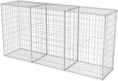 Amazon.com: Heitamy - Maceta de gavión para jardín al aire ...
