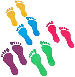 Kids Footprint Decal Stickers for Classroom Decor (32 Pairs)