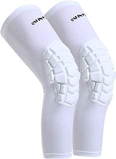 Basketball Knee Pads:ShinyPro 3D Honeycomb Shock Absorption EVA Pads,for Basketball Softball Baseball Football Volleyball,Kids Youth Girls Boys Women Men,1 Pair
