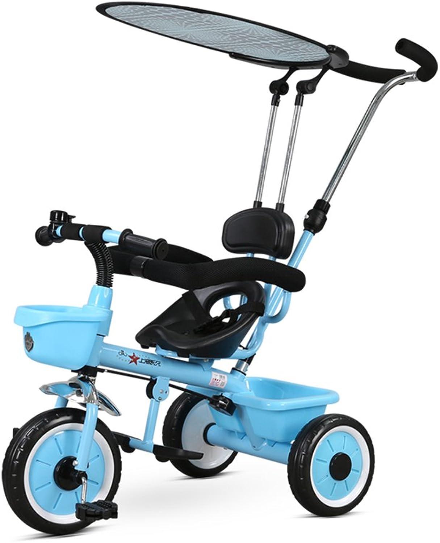 Entrega gratuita y rápida disponible. XQ Peso Peso Peso ligero A prueba de golpes Niño 1-3 años de edad Triciclo Cochecito de bebé - Azul  n ° 1 en línea