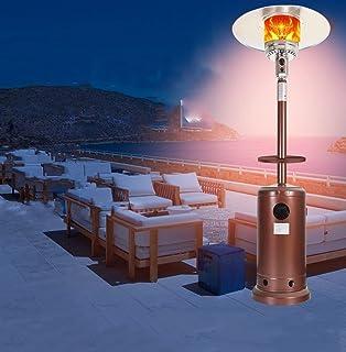 Parasol Chauffant Gaz, 13 KW, 88Ich, Acier INOX +Table E roulettes, Type Indépendant, Chauffage d'extérieur Gaz, Poêle de ...