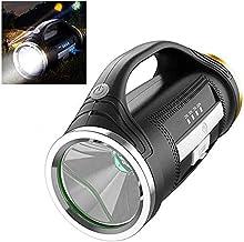 LKNJLL LED Rechargeable Handheld Flashlights,High-Power Super Bright 10000mah 3000 Lumens,USB Power Bank Rechargeable Flas...